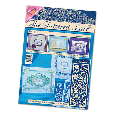 Tattered Lace Magazine Issue 8 Stephanie Weightman Free Floral Panel Dies