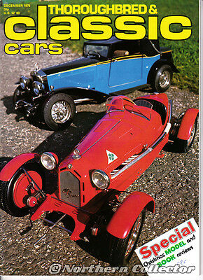 Thoroughbred & Classic Cars Magazine December 1978 Models Collector Supplement