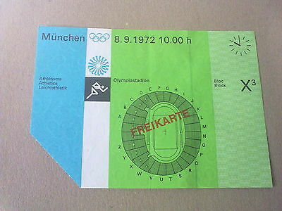 Ticket Olympic Games MÜNCHEN 1972 - ATHLETICS 8.09.1972 (10:00)