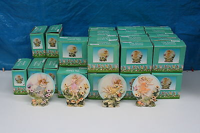 Wholesale job lot shop clearance damaged stock fairy plate with stand x 43