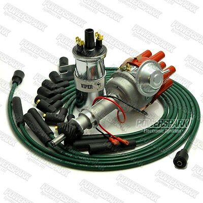 Ford Cologne V6 Electronic Distributor with Viper Coil and Green Leads