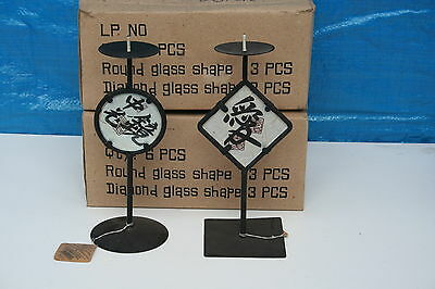 Wholesale job lot shop clearance Oriental candle holders in 2 styles x 60