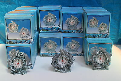 Wholesale job lot shop clearance polyresin Dolphin battery operated clock x 21