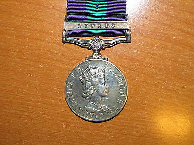 British General Service Medal Bar Cyprus nice named Lancashire Fusiliers