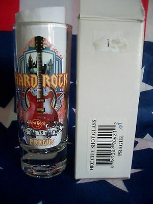 HRC Hard Rock Cafe Prague Praha Prag City Tee Shot Glass Schnapsglas New Vxx