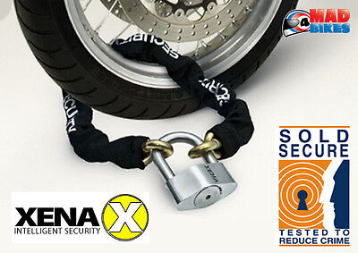 Xena Ultra High Security Sold Secure Motorbike Motorcycle Security Chain & Lock
