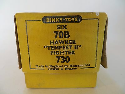 Dinky 70B/730 Hawker Tempest Ii Fighter. Original Box Only. Vintage & Complete.