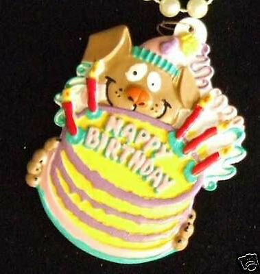 Birthday Cake Puppy Mardi Gras Bead Necklace New Orleans Favor Gift Party