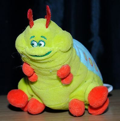"Disney Store A Bug's Life 8"" Heimlich bean bag soft toy With Sound / Talks"