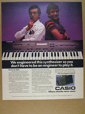 1985 Casio CZ-101 Synthesizer & Amp-Speaker photos vintage print Ad
