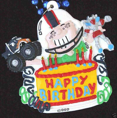Happy Birthday Cake Girl Mardi Gras Bead Necklace New Orleans Party