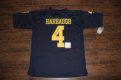 Jim Harbaugh Signed Autograph Jersey Michigan Wolverines Psa Ac78481