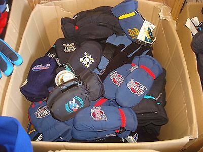Wholesale Lot 50 Ct  Childs Thinsulate Insulated Gloves Mittens Ski Nba Nfl Nhl