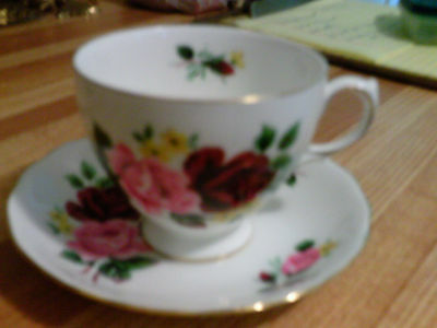 Vintage Queen Anne A960 tea cup and saucer 8289 pattern