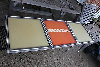 "Large Honda Sign Civic Vintage 63""x21"" In Great Shape Collector Piece (U-1971)"