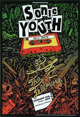 Sonic Youth Fillmore Concert Poster 2010 F1036 Original