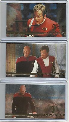 "1994 Star Trek Generations ""Complete Set"" of 3 SPECTRA-ETCH Chase Cards (S1-S3)"