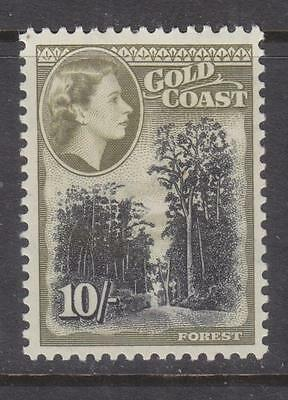 GOLD COAST, 1952 QE 10s. Forest, lhm.