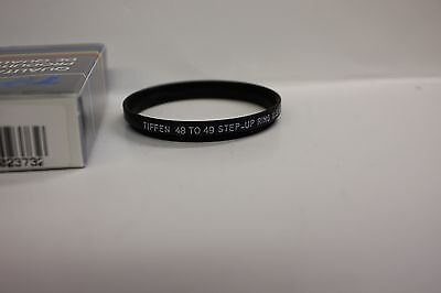 Tiffen 48MM to 49MM filter step up Camera Filter Ring  Made in USA - NEW In Box!