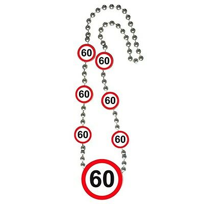 Traffic Sign 60th Necklace - Birthday Party Decoration
