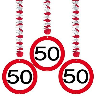 Traffic Sign 50th Party Hanging Decor 3 - Birthday Decoration