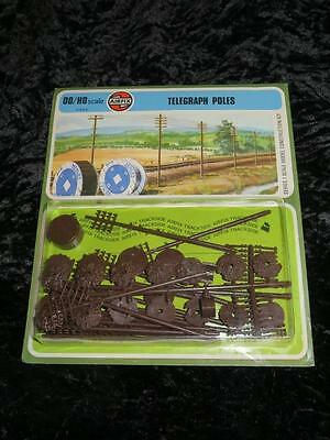 AIRFIX HO/OO MODEL RAILWAY KIT Telegraph Poles Unmade & Sealed in Type 4 Blister