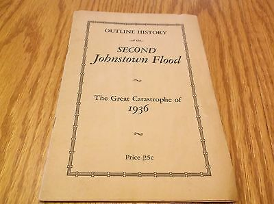 Outline History Of The Second Johnstown Flood 1936 G.walker , Moule  Booklet