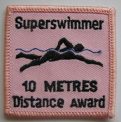 Superswimmer 10 Metres Distance Award Patch