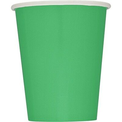 9oz Emerald Green Paper Cups, Pack Of 14