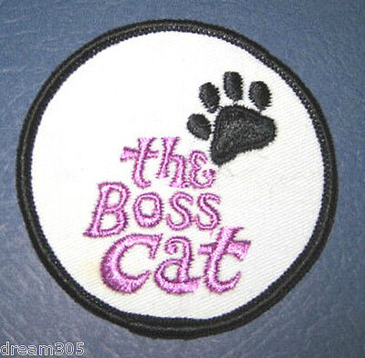 Vintage Arctic Cat Patch  THE BOSS CAT! Snowmobile Sled Snow 1969 1970 1971+