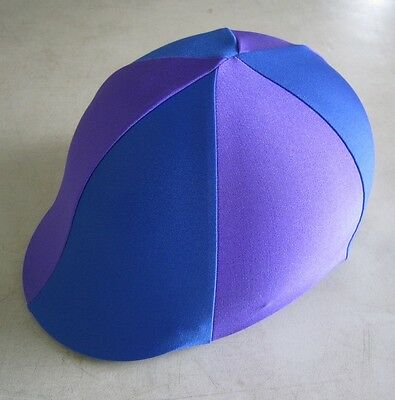 Horse Helmet Cover ALL AUSTRALIAN MADE Royal blue & Purple Any size you need