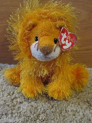 Ty Inc. 2003 Punkies Lion Beanie Plush Named Kitty *lnwt