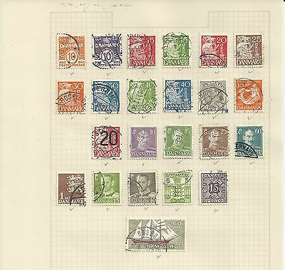 DENMARK - SELECTION OF USED STAMPS - #DEN1ab - 2 photos