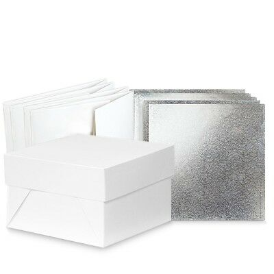 """Pack of 5  Square 12 """" cake board drum and box    FAST DESPATCH"""