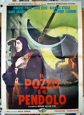 manifesto 2F film THE PIT AND THE PENDULUM Vincent Price B.Steele R.Corman 1961