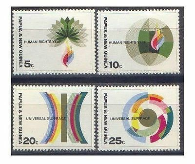 Papua New Guinea 1968 HUMAN RIGHTS Set(4) Unhinged Mint SG 133-6