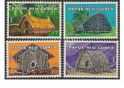 Papua New Guinea 1976 DWELLINGS (4) Unhinged Mint SG 305-8