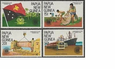 Papua New Guinea 1983 COMMONWEALTH DAY (4) Unhinged Mint SG 464-7