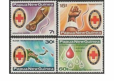 Papua New Guinea 1980 RED CROSS (4) Unhinged Mint SG 393-6