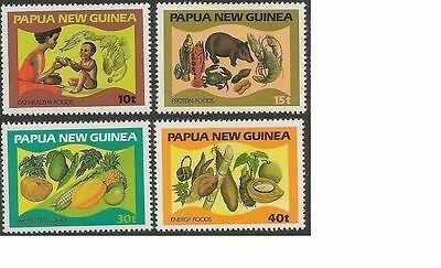 Papua New Guinea 1982 FOOD, NUTRITION (4) Unhinged Mint SG 434-7