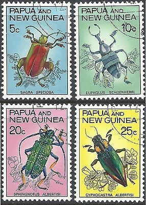 Papua New Guinea 1967 BEETLES Set (4) Fine Used (CTO with gum) SG 109-12
