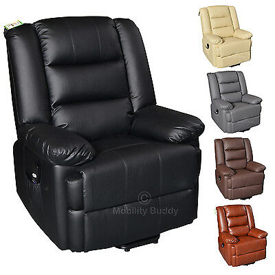 Capri Electric Riser Rise Recliner Real Leather Armchair Sofa Lounge Chair