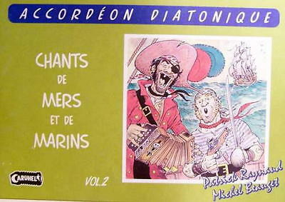 Accordion diatonic Tablatures Songs of Marins No. 2 new with CD