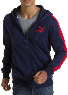 Puma Full Zip Fleece Mens Hoodie - Blue