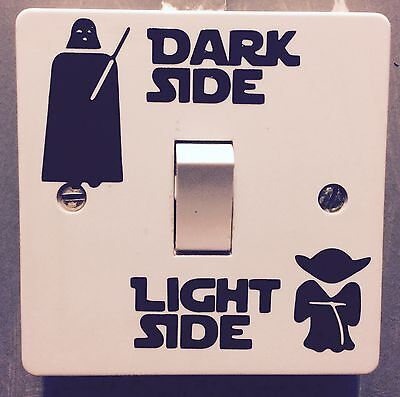 Novelty Funny Star Wars-Dark Side Light Side*light Switch Sticker,bedroom Decal