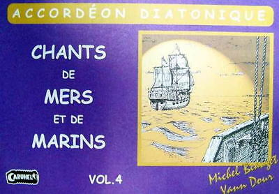 Accordion diatonic Tablatures Songs of Marins No. 4 new with CD