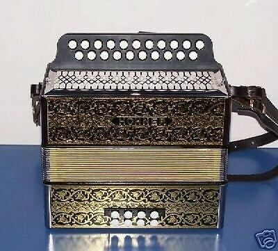 Accordion diatonic Hohner 2915 Luxe CG Sol-Do, shoulder straps, cover, new