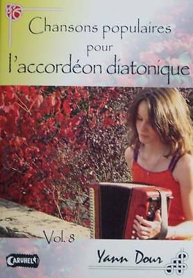 Accordion diatonic Tablatures Songs popular v.8 new with CD