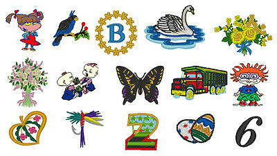 Bargain - 7000 Embroidery Designs Patterns CD - Animals, Fonts, Holidays, Rugrat