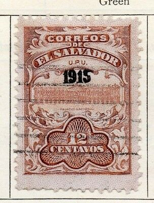 Salvador 1915 Early Issue Fine Used 12c. Optd 126173